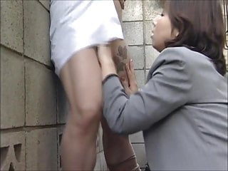Asian Japanese Outdoor video: Early Morning Outdoor Lesbian Action!!