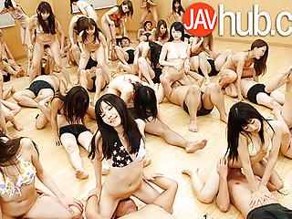 Group Sex Hardcore porno: JAVHUB Huge hardcore uncensored Japanese orgy
