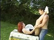 FRENCH CASTING  77 redhead teen outdoor camping 1