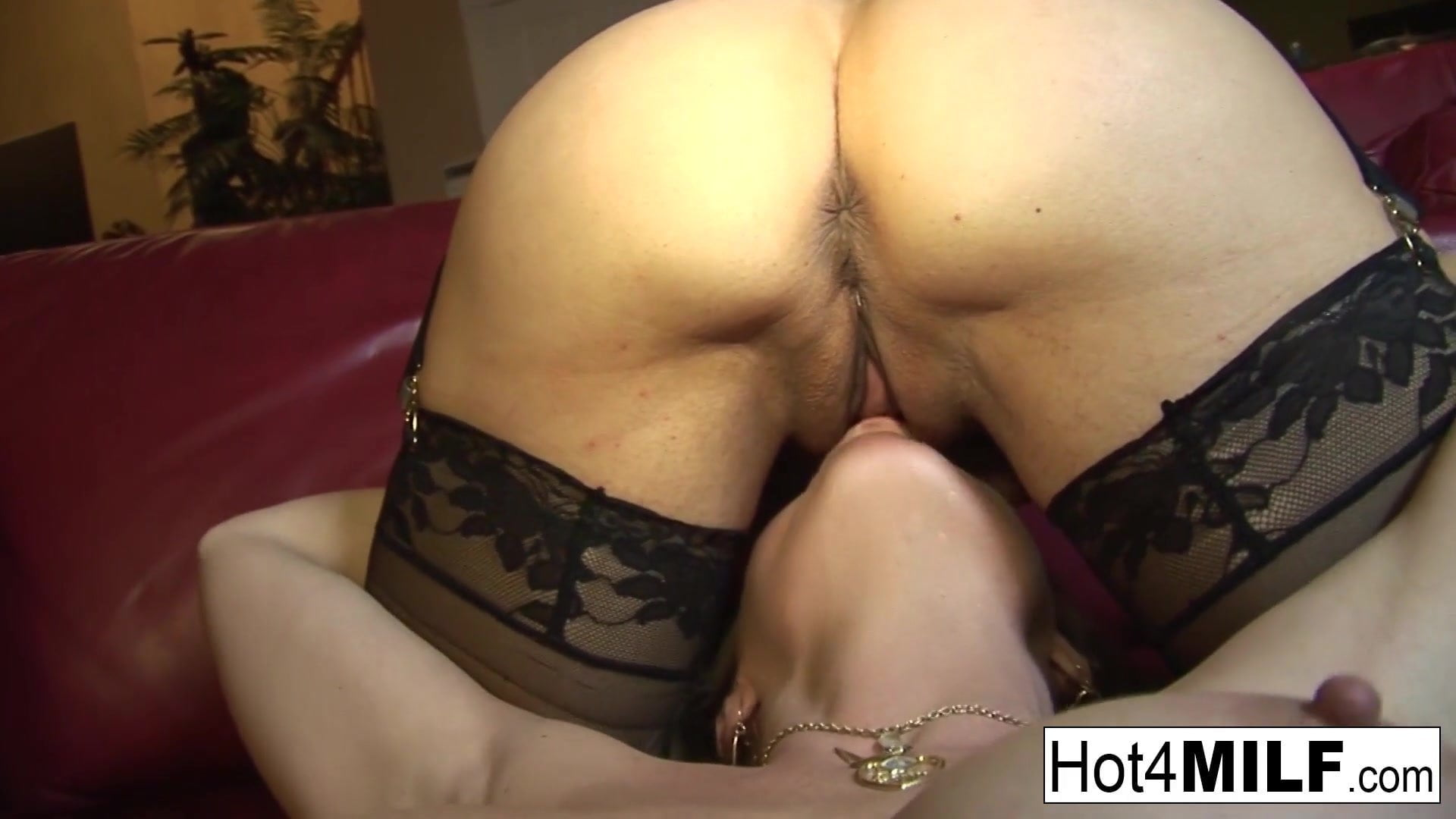 .Big tit MILFs Vanessa and June eat each other out.