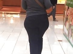 Szerokie biodra Pawg Milf Czarne spodnie (krótkie vid)