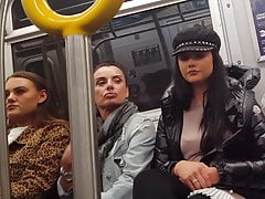Euro turyści na ukrytej kamerze pociągu