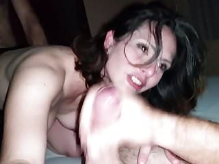 Wife orgasm amateur threesome