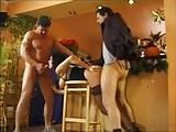 MILF Big Saggy Tits Rough DP Wearing Stockings