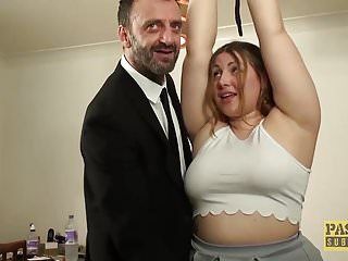 British Bdsm Big Tits video: British BBW rammed and punished by kinky older guy