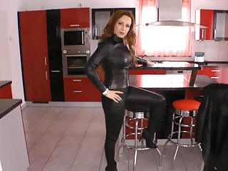 Stockings Flashing Latex video: Girls in leather 6