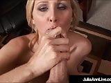Milf Julia Ann + Office Slut + Blowjob + Cumshot = Winner!