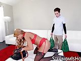 Mercedes Carrera seduces stepson dick with stockings