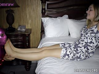 Babes Femdom Foot Fetish video: Pantyhose Freaks: Her First Time