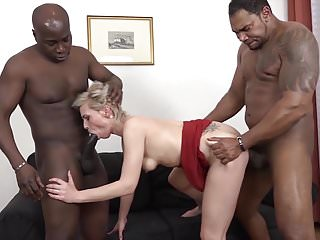 .Mature Gets Black Cocks In Her Pussy And Mouth Likes Rough.