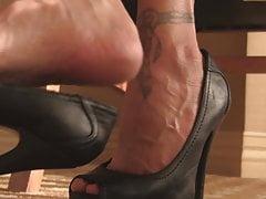Vintage skórzane buty