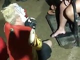 Clown Worshiping Feet