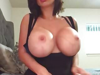 Very busty and massive naked black breasts