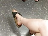 Candid feet - ladies on London Tube
