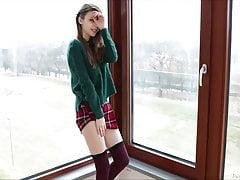 Busty Teen Schoolgirl Mila Azul Solo Masturbacja