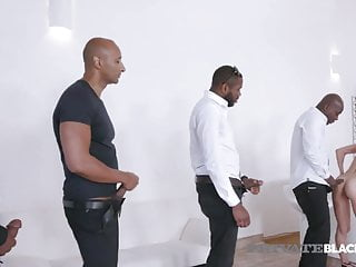 PrivateBlack - Hot Natalie Love Gets 4 Big Black Cocks & Cum
