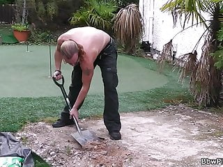Bbw Tits Czech video: Guy pleases plump blonde neighbor