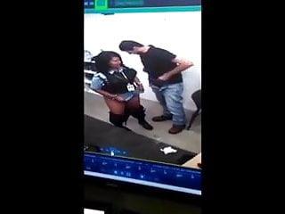 Hidden Cam caughts man banging guard