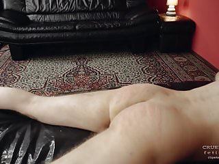 Femdom Spanking Slave video: Thick cane