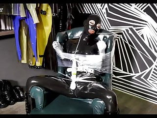 Latex Skinny Hd Videos video: NA047-Latex bondage rubberdoll High Heel