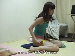 Peeping japanische Teen kurze Shorts Übung
