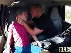 Desperate blond guy gags on rough cock before ass drilled | Porn-Update.com