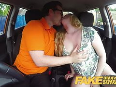 Fake Driving School Uczennica Satine Sparks dupa spanked ponownie
