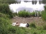 Danish girl by the lake
