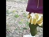 Ouside in Mini-Skirt