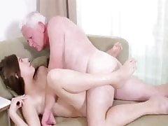 weißer fetter Opa