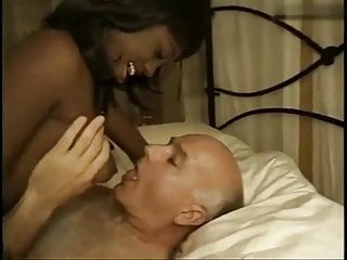 Black And Ebony Interracial porno: Ebony Hooker fucks old man Dave Cummings