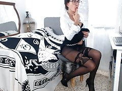 Webcam mature en collants