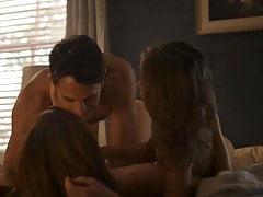 Lili Simmons Lesbian Threesome Scene on ScandalPlanetCom
