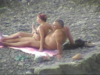 Outdoor Mature video: Mature on the beach