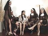 Shemale nuns fucking a biogirl