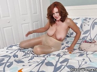 Milf Mature Pantyhose video: An older woman means fun part 165