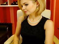 Webcam-Sekretärin in guter Stimmung
