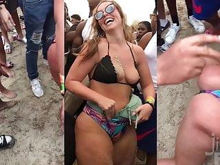 Beach Bikini Party vid: Slutty BBW Queen of PAWGS (Preview) - SPRING