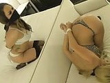 Two hot party girls bound and gagged