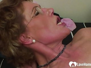 Stockings Small Tits Mature video: Older woman in stockings seduces a horny dude