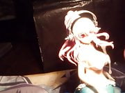 SOF figure bukkake Super Sonico busty mermaid 2 cumshots cum
