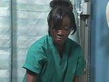 Asian Japanese guy fucks black ebony girl in hospital