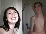 Amateur - Little Tits Teen MMF Threesome & CIM