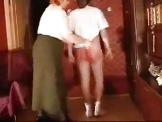 Spanking Granny Belting video: granny spanking and belting
