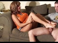 Hot milf Footjob