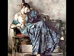 Mulheres chinesas e o espelho - pinturas de Lu Jianjun