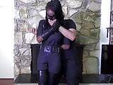 Ebony superheroine  Bound