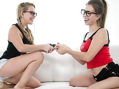 Nerd Nymphs Turn Into Lezzies - Lilly Ford, Jill Kassidy