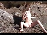 Nude Beach - Skinny Redhead Photo Shoot