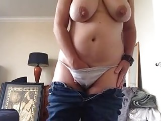 Matures Amateur video: busty pervert mature masturbate 3